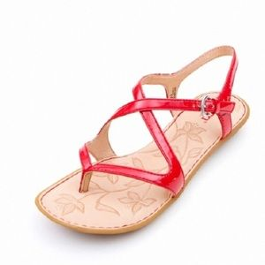 Born Nahala Sandal in Blood Orange Patent 8